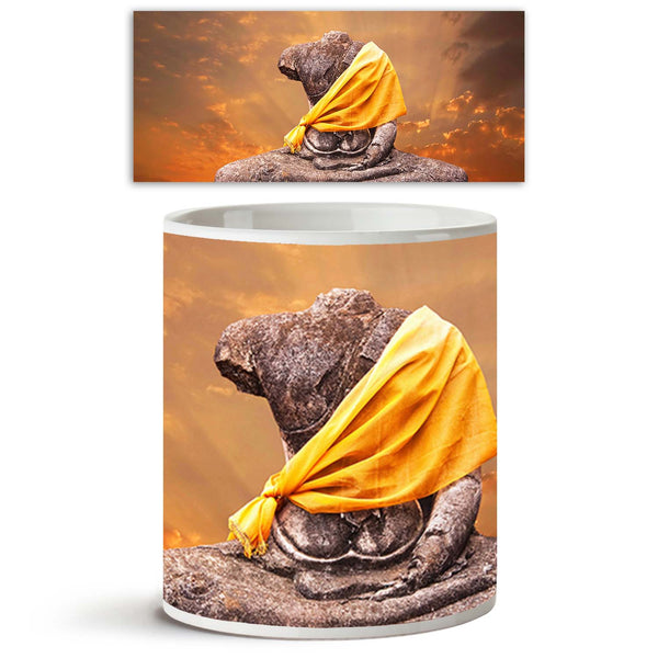 ArtzFolio Buddha Artwork Ceramic Coffee Tea Mug Inside White-Coffee Mugs-AZKIT9602554MUG_L-Image Code 5000358 Vishnu Image Folio Pvt Ltd, IC 5000358, ArtzFolio, Coffee Mugs, Places, Religious, Photography, buddha, artwork, ceramic, coffee, tea, mug, inside, white, ancient, statue, against, sunset, background, coffee mugs with logo, promotional mugs, bulk coffee mug, office mugs, amazonbasics, custom coffee mugs, custom ceramic mugs, 11ounce ceramic coffee mug, coffee cup gift, tea mug, promotional coffee mu