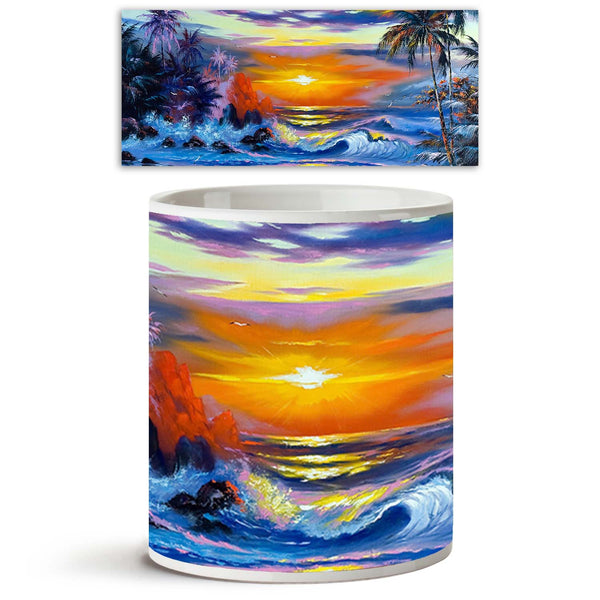 ArtzFolio Beautiful Sea Evening Landscape Ceramic Coffee Tea Mug Inside White-Coffee Mugs-AZKIT9797308MUG_L-Image Code 5000385 Vishnu Image Folio Pvt Ltd, IC 5000385, ArtzFolio, Coffee Mugs, Landscapes, Fine Art Reprint, beautiful, sea, evening, landscape, ceramic, coffee, tea, mug, inside, white, coffee mugs with logo, promotional mugs, bulk coffee mug, office mugs, amazonbasics, custom coffee mugs, custom ceramic mugs, 11ounce ceramic coffee mug, coffee cup gift, tea mug, promotional coffee mugs, custom p