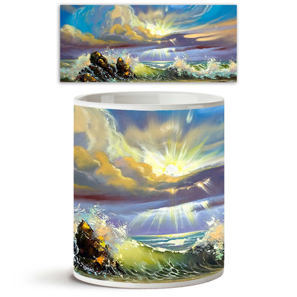 ArtzFolio Sunset On Seacoast Ceramic Coffee Tea Mug Inside White-Coffee Mugs-AZKIT9797331MUG_L-Image Code 5000387 Vishnu Image Folio Pvt Ltd, IC 5000387, ArtzFolio, Coffee Mugs, Landscapes, Fine Art Reprint, sunset, on, seacoast, ceramic, coffee, tea, mug, inside, white, coffee mugs with logo, promotional mugs, bulk coffee mug, office mugs, amazonbasics, custom coffee mugs, custom ceramic mugs, 11ounce ceramic coffee mug, coffee cup gift, tea mug, promotional coffee mugs, custom printed mugs, 11 oz coffee m
