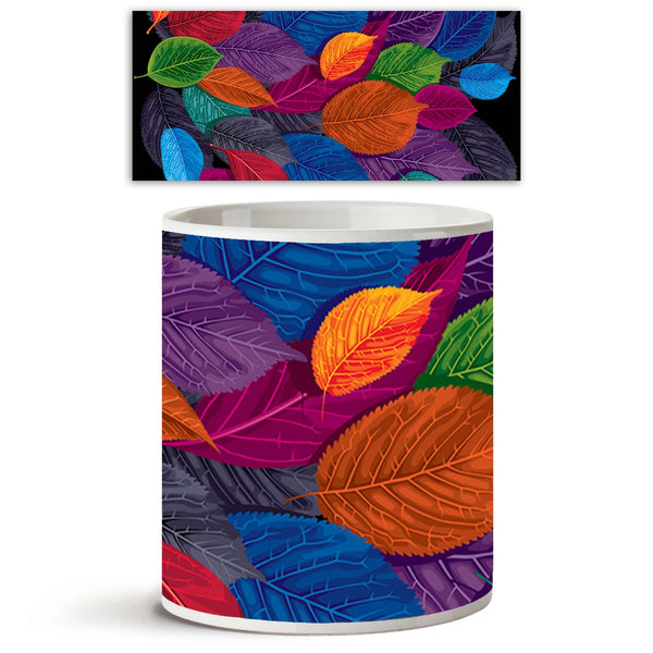 ArtzFolio Dark Autumn Leaves Ceramic Coffee Tea Mug Inside White-Coffee Mugs-AZKIT9931411MUG_L-Image Code 5000395 Vishnu Image Folio Pvt Ltd, IC 5000395, ArtzFolio, Coffee Mugs, Floral, Digital Art, dark, autumn, leaves, ceramic, coffee, tea, mug, inside, white, black, background, coffee mugs with logo, promotional mugs, bulk coffee mug, office mugs, amazonbasics, custom coffee mugs, custom ceramic mugs, 11ounce ceramic coffee mug, coffee cup gift, tea mug, promotional coffee mugs, custom printed mugs, 11 o