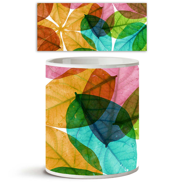 ArtzFolio Colorful Leaves Ceramic Coffee Tea Mug Inside White-Coffee Mugs-AZKIT9940354MUG_L-Image Code 5000397 Vishnu Image Folio Pvt Ltd, IC 5000397, ArtzFolio, Coffee Mugs, Floral, Digital Art, colorful, leaves, ceramic, coffee, tea, mug, inside, white, clolorful, leaf, background, coffee mugs with logo, promotional mugs, bulk coffee mug, office mugs, amazonbasics, custom coffee mugs, custom ceramic mugs, 11ounce ceramic coffee mug, coffee cup gift, tea mug, promotional coffee mugs, custom printed mugs, 1