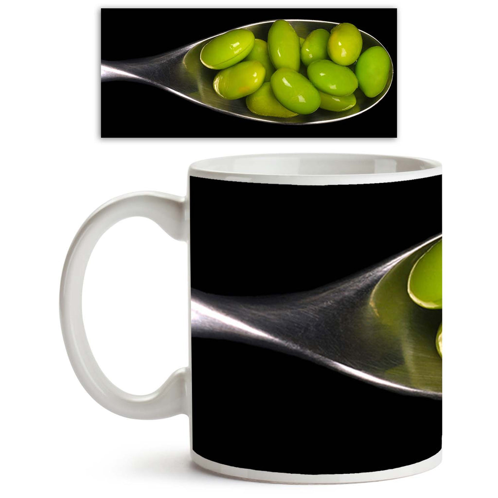 ArtzFolio Soybeans In A Spoon On Black Ceramic Coffee Tea Mug Inside White-Coffee Mugs-AZKIT10945339MUG_L-Image Code 5000578 Vishnu Image Folio Pvt Ltd, IC 5000578, ArtzFolio, Coffee Mugs, Food & Beverage, Photography, soybeans, in, a, spoon, on, black, ceramic, coffee, tea, mug, inside, white, nice, image, coffee mugs with logo, promotional mugs, bulk coffee mug, office mugs, amazonbasics, custom coffee mugs, custom ceramic mugs, 11ounce ceramic coffee mug, coffee cup gift, tea mug, promotional coffee mugs