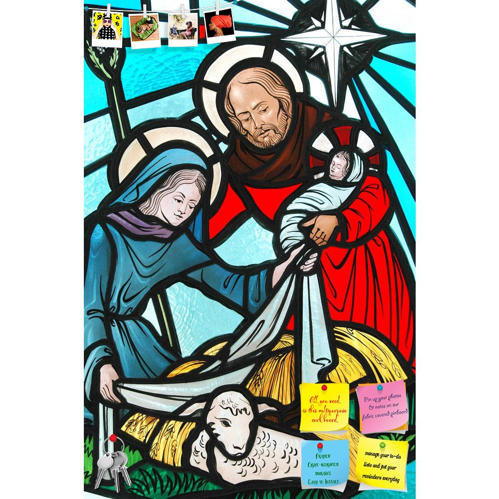ArtzFolio Stained Glass Window Of The Nativity Printed Bulletin Board Notice Pin Board Soft Board | Frameless-Bulletin Boards Frameless-AZSAO11763555BLB_FL_L-Image Code 5000758 Vishnu Image Folio Pvt Ltd, IC 5000758, ArtzFolio, Bulletin Boards Frameless, Religious, Fine Art Reprint, stained, glass, window, of, the, nativity, printed, bulletin, board, notice, pin, soft, frameless, pin up board, push pin board, extra large cork board, big pin board, notice board, small bulletin board, cork board, wall notice