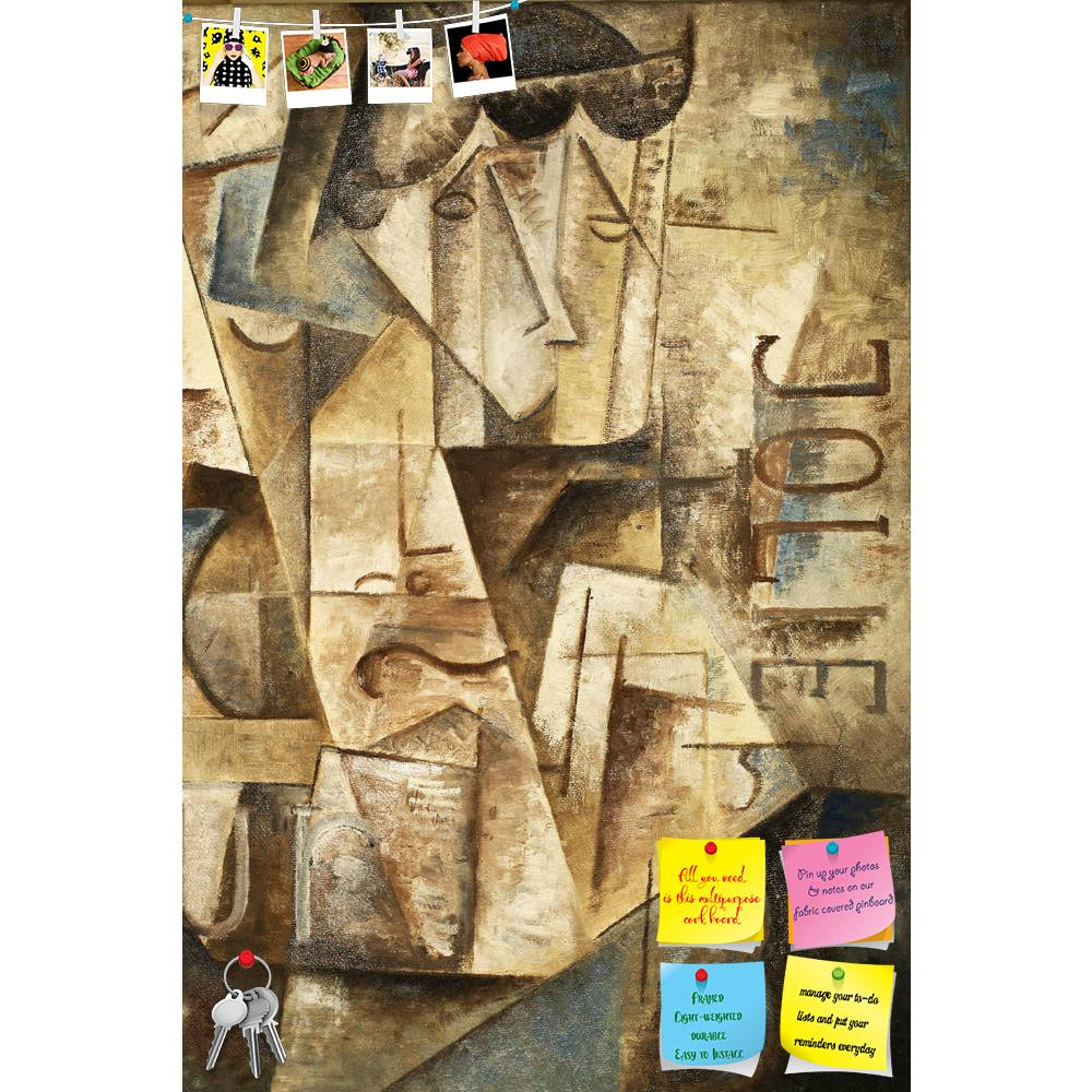 ArtzFolio Abstarct Cubism Printed Bulletin Board Notice Pin Board Soft Board | Frameless-Bulletin Boards Frameless-AZSAO11931506BLB_FL_L-Image Code 5000802 Vishnu Image Folio Pvt Ltd, IC 5000802, ArtzFolio, Bulletin Boards Frameless, Abstract, Fine Art Reprint, abstarct, cubism, printed, bulletin, board, notice, pin, soft, frameless, oil, painting, jolie, blue, gray, pin up board, push pin board, extra large cork board, big pin board, notice board, small bulletin board, cork board, wall notice board, giant