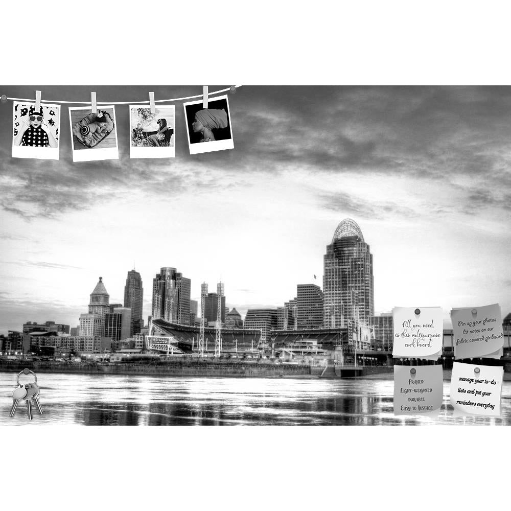 ArtzFolio Cincinnati Ohio Skyline, Newport Kentucky, USA D2 Printed Bulletin Board Notice Pin Board Soft Board | Frameless-Bulletin Boards Frameless-AZSAO12044071BLB_FL_L-Image Code 5000837 Vishnu Image Folio Pvt Ltd, IC 5000837, ArtzFolio, Bulletin Boards Frameless, Places, Photography, cincinnati, ohio, skyline, newport, kentucky, usa, d2, printed, bulletin, board, notice, pin, soft, frameless, 7am, january, 16, 2012, seen, from, riverbank, city, cityscape, river, water, bridge, skyscraper, urban, travel,