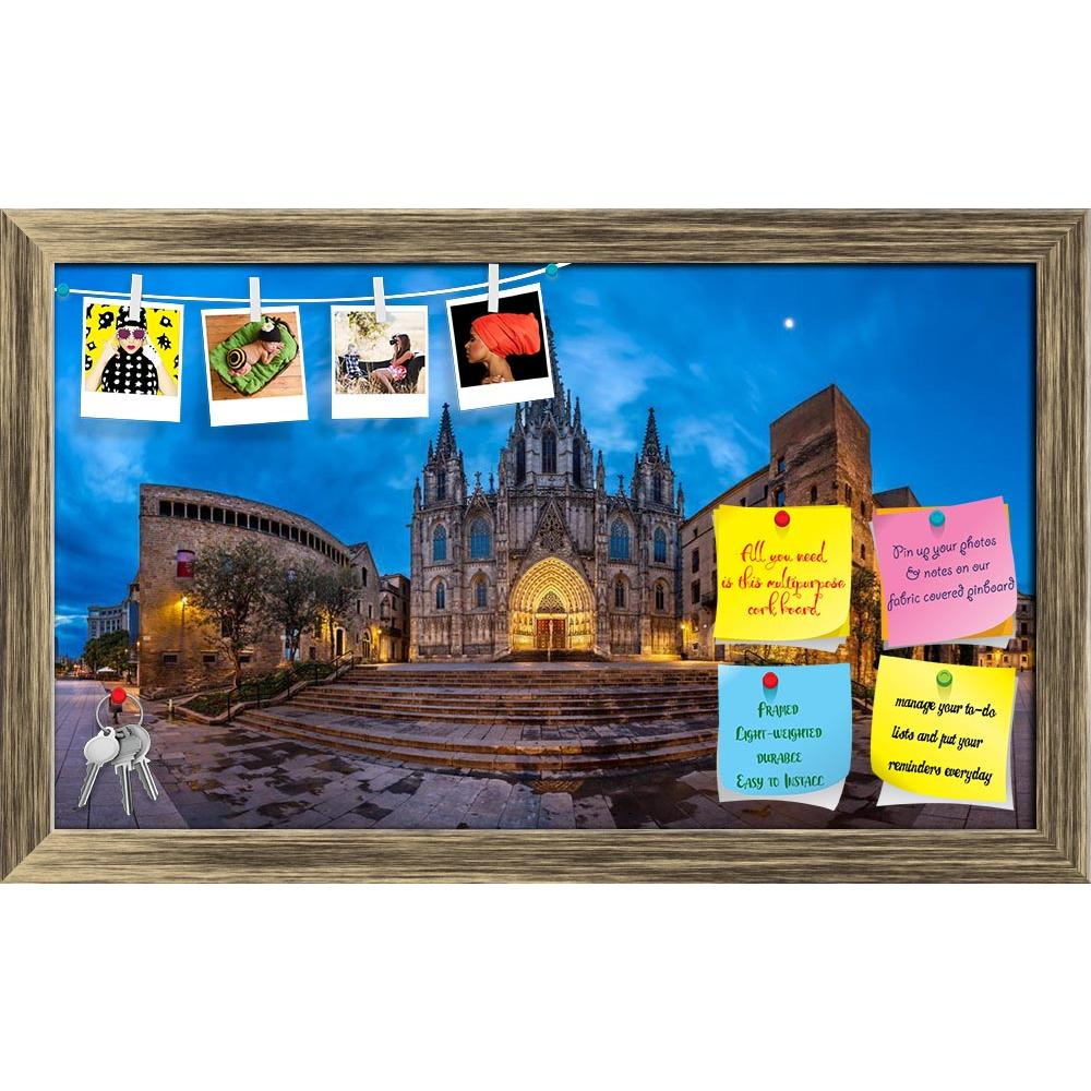 ArtzFolio Cathedral Of The Holy Cross Barcelona, Spain Printed Bulletin Board Notice Pin Board Soft Board | Framed-Bulletin Boards Framed-AZSAO34374595BLB_FR_L-Image Code 5004066 Vishnu Image Folio Pvt Ltd, IC 5004066, ArtzFolio, Bulletin Boards Framed, Places, Photography, cathedral, of, the, holy, cross, barcelona, spain, printed, bulletin, board, notice, pin, soft, framed, panorama, saint, eulalia, morning, barri, gothic, quarter, catalonia, ancient, arch, architecture, basilica, blue, building, catalan,
