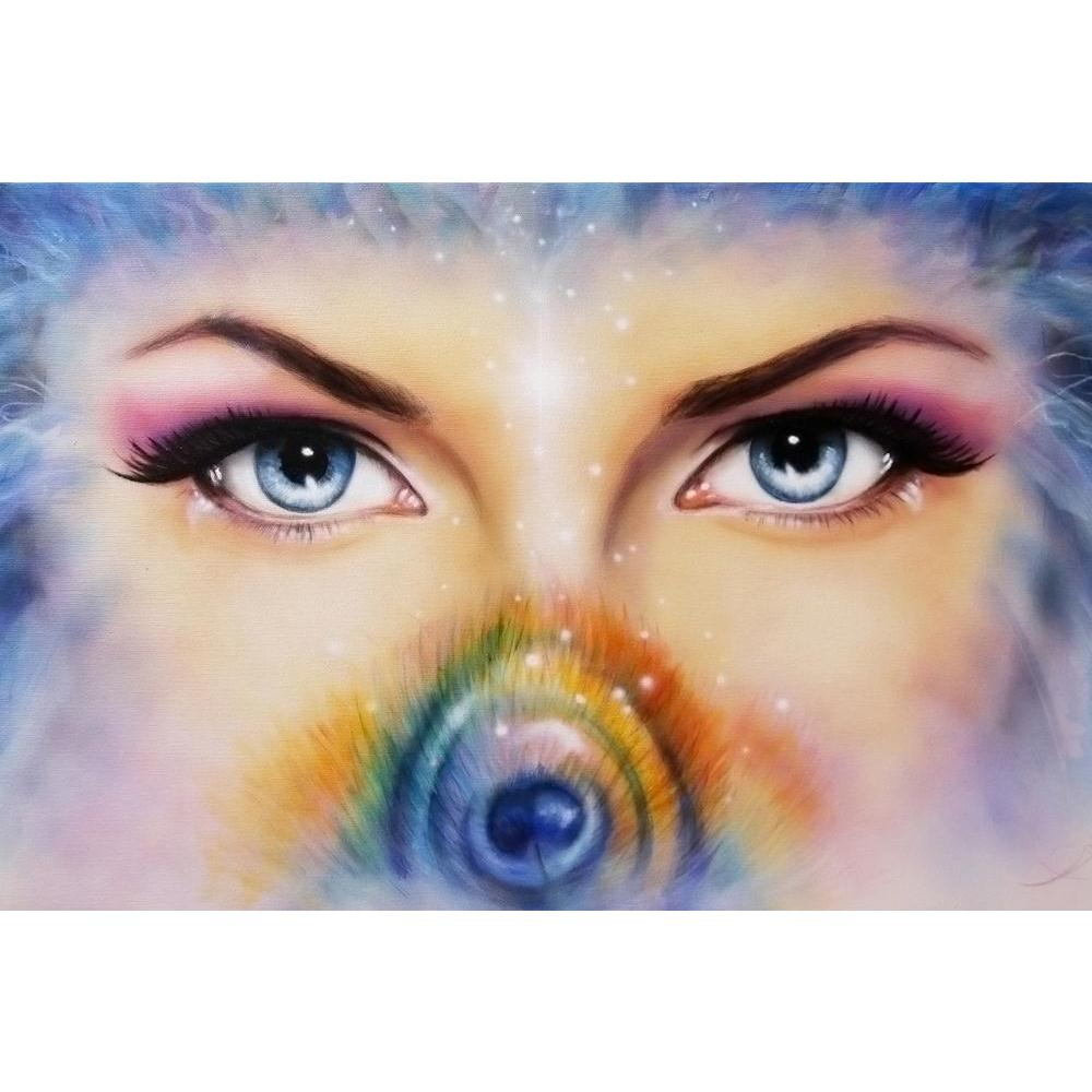 ArtzFolio Blue Eyes Women With Colored Peacock Feather Unframed Paper Poster-Paper Posters Unframed-AZART36550403POS_UN_L-Image Code 5004280 Vishnu Image Folio Pvt Ltd, IC 5004280, ArtzFolio, Paper Posters Unframed, Fantasy, Fine Art Reprint, blue, eyes, women, with, colored, peacock, feather, unframed, paper, poster, wall, large, size, for, living, room, home, decoration, big, framed, decor, posters, pitaara, box, modern, art, frame, bedroom, amazonbasics, door, drawing, small, decorative, office, receptio