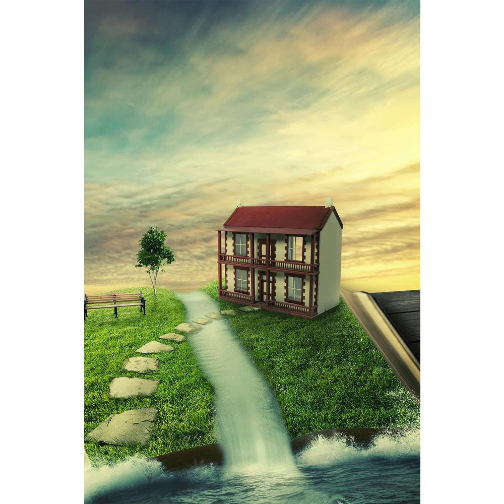 ArtzFolio Magic Book With Family Home, Covered With Grass Unframed Paper Poster-Paper Posters Unframed-AZART36816958POS_UN_L-Image Code 5004306 Vishnu Image Folio Pvt Ltd, IC 5004306, ArtzFolio, Paper Posters Unframed, Fantasy, Kids, Landscapes, Digital Art, magic, book, with, family, home, covered, grass, unframed, paper, poster, wall, large, size, for, living, room, decoration, big, framed, decor, posters, pitaara, box, modern, art, frame, bedroom, amazonbasics, door, drawing, small, decorative, office, r