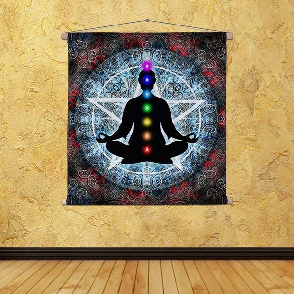 ArtzFolio In Meditation With Chakras Fabric Painting Tapestry Scroll Art Hanging-Scroll Art-AZART36974292TAP_L-Image Code 5004327 Vishnu Image Folio Pvt Ltd, IC 5004327, ArtzFolio, Scroll Art, Religious, Traditional, Digital Art, in, meditation, with, chakras, canvas, fabric, painting, tapestry, scroll, art, hanging, tapestries, room tapestry, hanging tapestry, huge tapestry, amazonbasics, tapestry cloth, fabric wall hanging, unique tapestries, wall tapestry, small tapestry, tapestry wall decor, cheap tapes