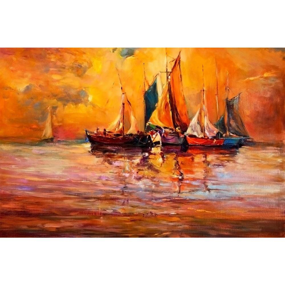 ArtzFolio Artwork Of Boats & Sea D3 Unframed Paper Poster-Paper Posters Unframed-AZART37926594POS_UN_L-Image Code 5004434 Vishnu Image Folio Pvt Ltd, IC 5004434, ArtzFolio, Paper Posters Unframed, Abstract, Landscapes, Fine Art Reprint, artwork, of, boats, sea, d3, unframed, paper, poster, wall, large, size, for, living, room, home, decoration, big, framed, decor, posters, pitaara, box, modern, art, with, frame, bedroom, amazonbasics, door, drawing, small, decorative, office, reception, multiple, friends, i