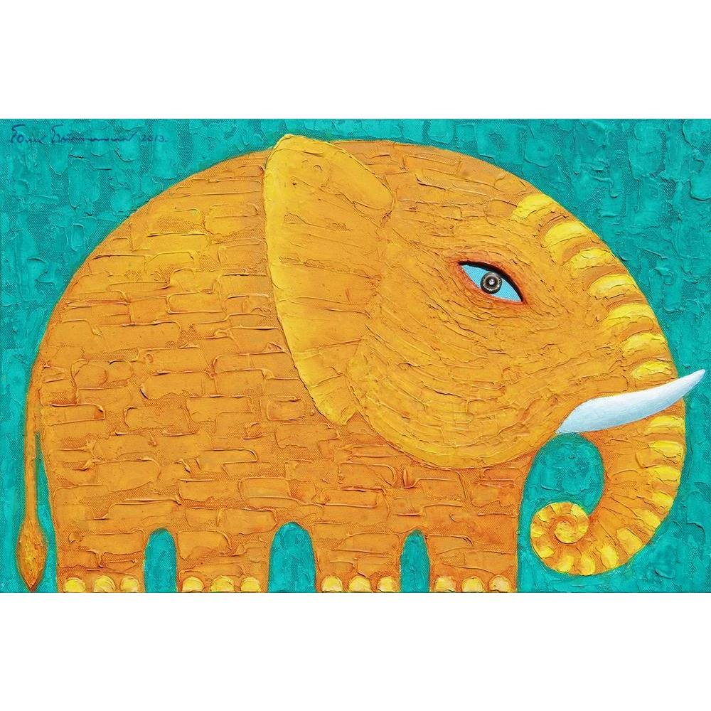 ArtzFolio Yellow Elephant Unframed Paper Poster-Paper Posters Unframed-AZART38492272POS_UN_L-Image Code 5004488 Vishnu Image Folio Pvt Ltd, IC 5004488, ArtzFolio, Paper Posters Unframed, Animals, Kids, Fine Art Reprint, yellow, elephant, unframed, paper, poster, wall, large, size, for, living, room, home, decoration, big, framed, decor, posters, pitaara, box, modern, art, with, frame, bedroom, amazonbasics, door, drawing, small, decorative, office, reception, multiple, friends, images, reprints, reprint, ba