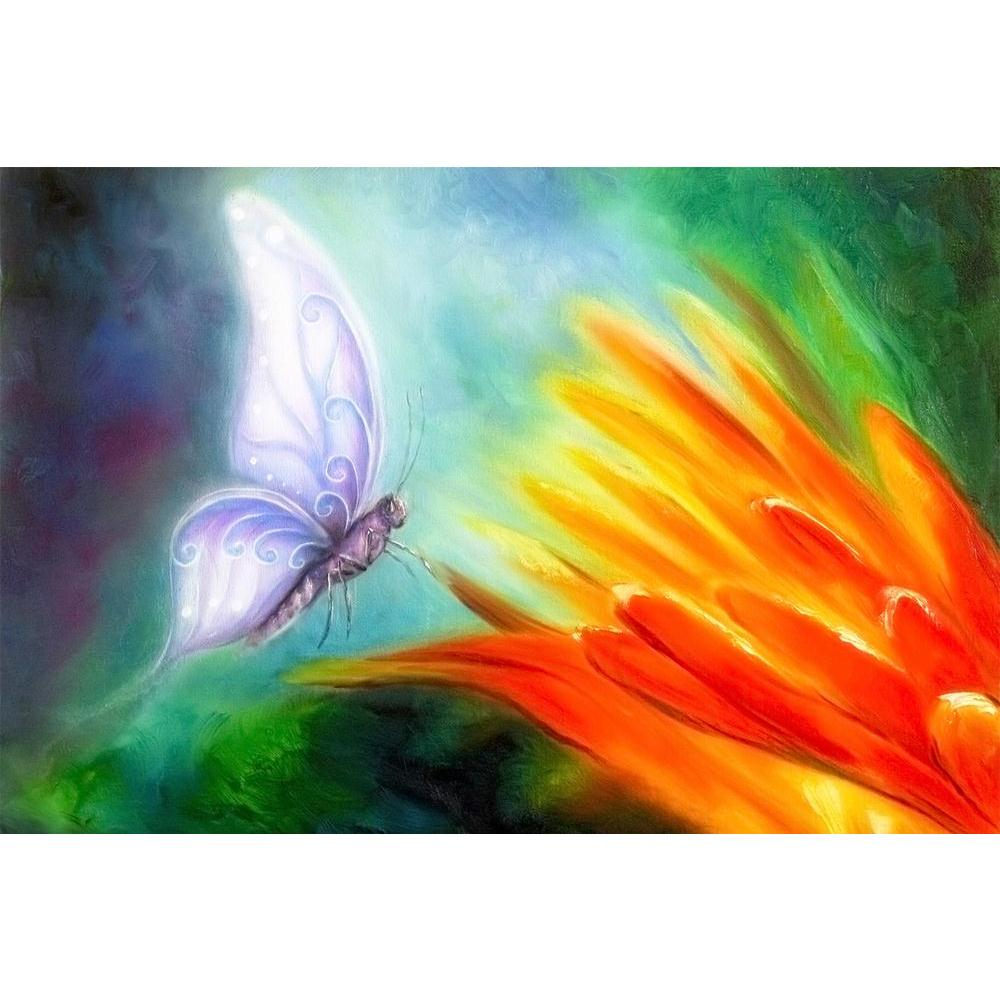 ArtzFolio Butterfly Flying Towards A Bright Orange Flower Unframed Paper Poster-Paper Posters Unframed-AZART38506925POS_UN_L-Image Code 5004505 Vishnu Image Folio Pvt Ltd, IC 5004505, ArtzFolio, Paper Posters Unframed, Birds, Floral, Kids, Fine Art Reprint, butterfly, flying, towards, a, bright, orange, flower, unframed, paper, poster, wall, large, size, for, living, room, home, decoration, big, framed, decor, posters, pitaara, box, modern, art, with, frame, bedroom, amazonbasics, door, drawing, small, deco