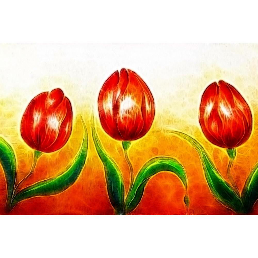 ArtzFolio Three Dancing Red Tulip Flowers Unframed Paper Poster-Paper Posters Unframed-AZART40818415POS_UN_L-Image Code 5004737 Vishnu Image Folio Pvt Ltd, IC 5004737, ArtzFolio, Paper Posters Unframed, Floral, Fine Art Reprint, three, dancing, red, tulip, flowers, unframed, paper, poster, wall, large, size, for, living, room, home, decoration, big, framed, decor, posters, pitaara, box, modern, art, with, frame, bedroom, amazonbasics, door, drawing, small, decorative, office, reception, multiple, friends, i