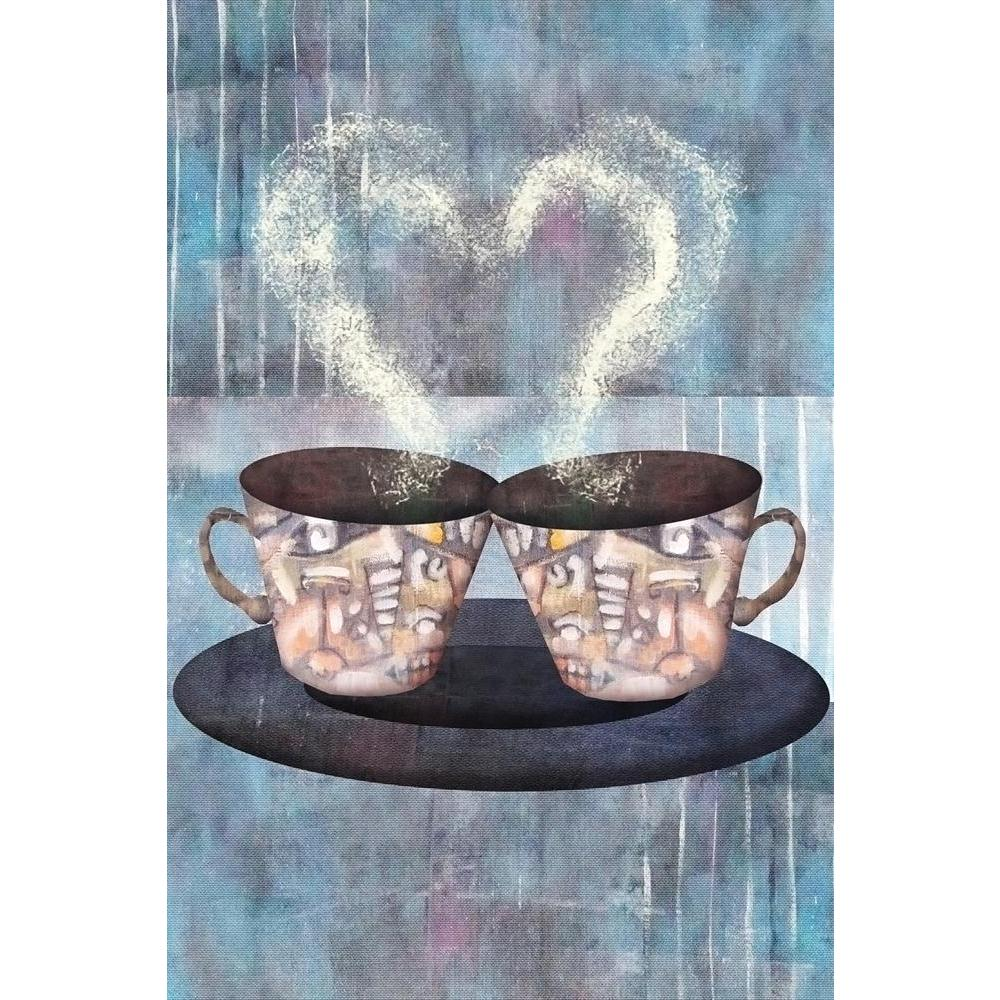 ArtzFolio Two Cups Of Coffee Or Tea Unframed Paper Poster-Paper Posters Unframed-AZART42155964POS_UN_L-Image Code 5004934 Vishnu Image Folio Pvt Ltd, IC 5004934, ArtzFolio, Paper Posters Unframed, Food & Beverage, Fine Art Reprint, two, cups, of, coffee, or, tea, unframed, paper, poster, wall, large, size, for, living, room, home, decoration, big, framed, decor, posters, pitaara, box, modern, art, with, frame, bedroom, amazonbasics, door, drawing, small, decorative, office, reception, multiple, friends, ima