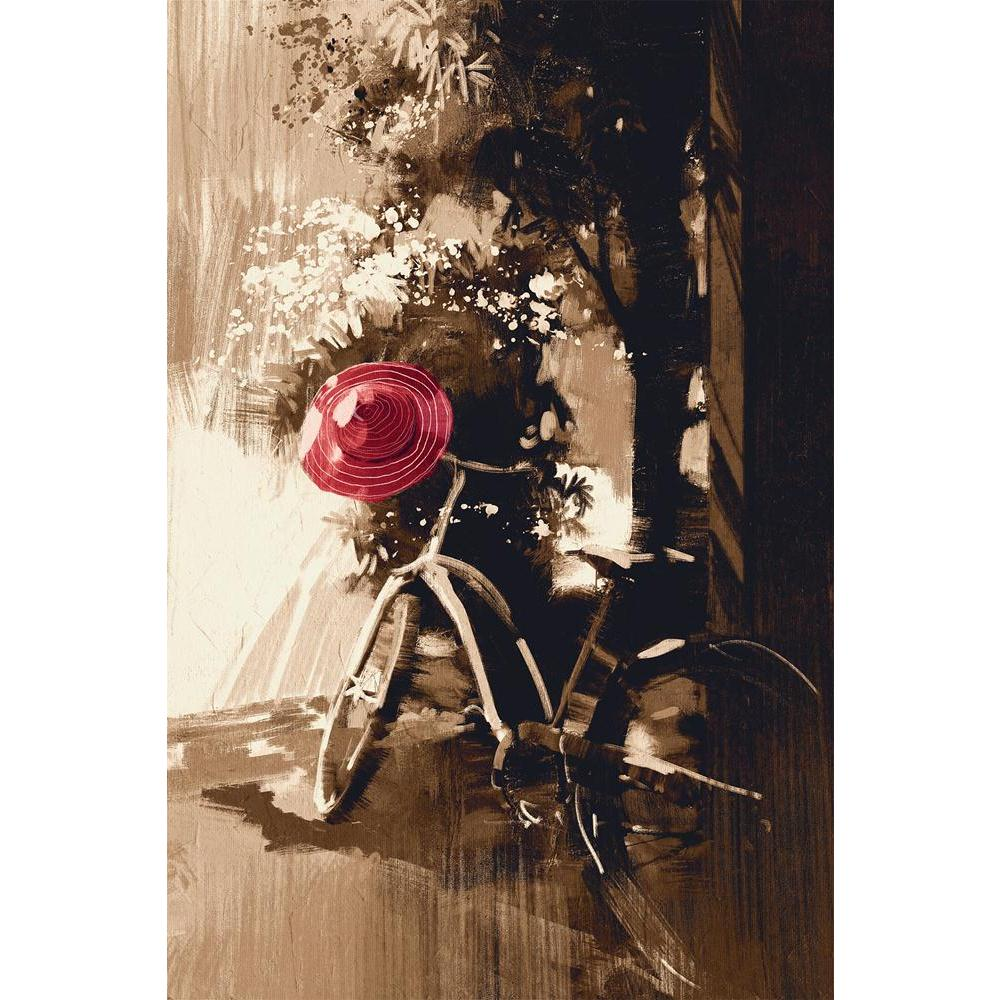 ArtzFolio Vintage Bicycle & Red Hat On Summer Day Unframed Paper Poster-Paper Posters Unframed-AZART42280503POS_UN_L-Image Code 5004962 Vishnu Image Folio Pvt Ltd, IC 5004962, ArtzFolio, Paper Posters Unframed, Still Life, Fine Art Reprint, vintage, bicycle, red, hat, on, summer, day, unframed, paper, poster, wall, large, size, for, living, room, home, decoration, big, framed, decor, posters, pitaara, box, modern, art, with, frame, bedroom, amazonbasics, door, drawing, small, decorative, office, reception,