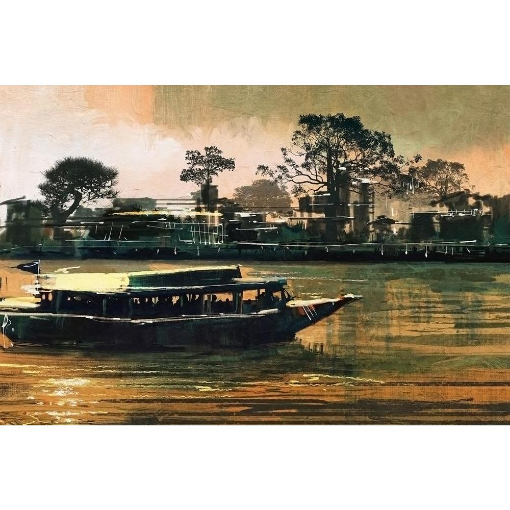 ArtzFolio Ferry Carries Passengers On River Unframed Paper Poster-Paper Posters Unframed-AZART42280514POS_UN_L-Image Code 5004967 Vishnu Image Folio Pvt Ltd, IC 5004967, ArtzFolio, Paper Posters Unframed, Landscapes, Fine Art Reprint, ferry, carries, passengers, on, river, unframed, paper, poster, wall, large, size, for, living, room, home, decoration, big, framed, decor, posters, pitaara, box, modern, art, with, frame, bedroom, amazonbasics, door, drawing, small, decorative, office, reception, multiple, fr