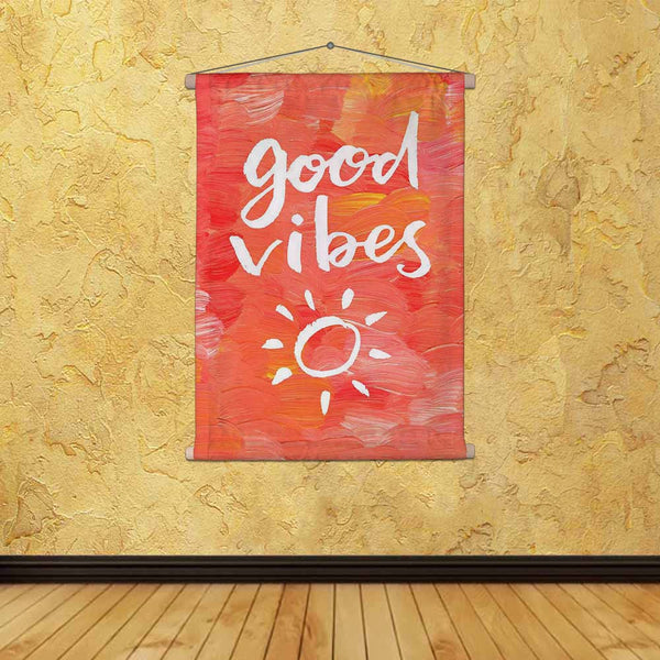 ArtzFolio Good Vibes Fabric Painting Tapestry Scroll Art Hanging-Scroll Art-AZART44220900TAP_L-Image Code 5005191 Vishnu Image Folio Pvt Ltd, IC 5005191, ArtzFolio, Scroll Art, Kids, Quotes, Digital Art, good, vibes, canvas, fabric, painting, tapestry, scroll, art, hanging, hand, lettering, quote, creative, background, tapestries, room tapestry, hanging tapestry, huge tapestry, amazonbasics, tapestry cloth, fabric wall hanging, unique tapestries, wall tapestry, small tapestry, tapestry wall decor, cheap tap