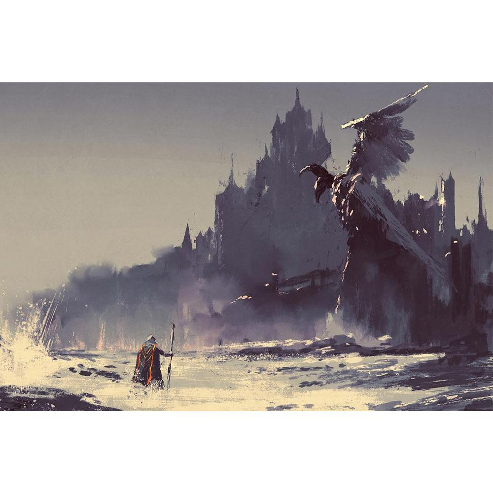 ArtzFolio King Walking Through Sea Next To Fantasy Castle Unframed Paper Poster-Paper Posters Unframed-AZART44245743POS_UN_L-Image Code 5005202 Vishnu Image Folio Pvt Ltd, IC 5005202, ArtzFolio, Paper Posters Unframed, Abstract, Fantasy, Fine Art Reprint, king, walking, through, sea, next, to, castle, unframed, paper, poster, wall, large, size, for, living, room, home, decoration, big, framed, decor, posters, pitaara, box, modern, art, with, frame, bedroom, amazonbasics, door, drawing, small, decorative, of