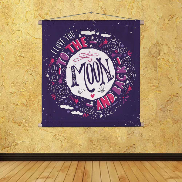 ArtzFolio I Love You To The Moon & Back D1 Fabric Painting Tapestry Scroll Art Hanging-Scroll Art-AZART44494785TAP_L-Image Code 5005223 Vishnu Image Folio Pvt Ltd, IC 5005223, ArtzFolio, Scroll Art, Kids, Love, Quotes, Digital Art, i, you, to, the, moon, back, d1, canvas, fabric, painting, tapestry, scroll, art, hanging, quote, hand, drawn, vintage, print, stars, lettering, used, as, poster, greeting, card, wedding, valentine's, day, tapestries, room tapestry, hanging tapestry, huge tapestry, amazonbasics,
