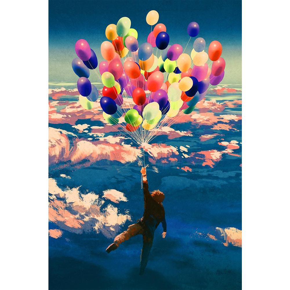 ArtzFolio Man Flying With Colorful Balloons Unframed Paper Poster-Paper Posters Unframed-AZART45175404POS_UN_L-Image Code 5005286 Vishnu Image Folio Pvt Ltd, IC 5005286, ArtzFolio, Paper Posters Unframed, Abstract, Fantasy, Fine Art Reprint, man, flying, with, colorful, balloons, unframed, paper, poster, wall, large, size, for, living, room, home, decoration, big, framed, decor, posters, pitaara, box, modern, art, frame, bedroom, amazonbasics, door, drawing, small, decorative, office, reception, multiple, f