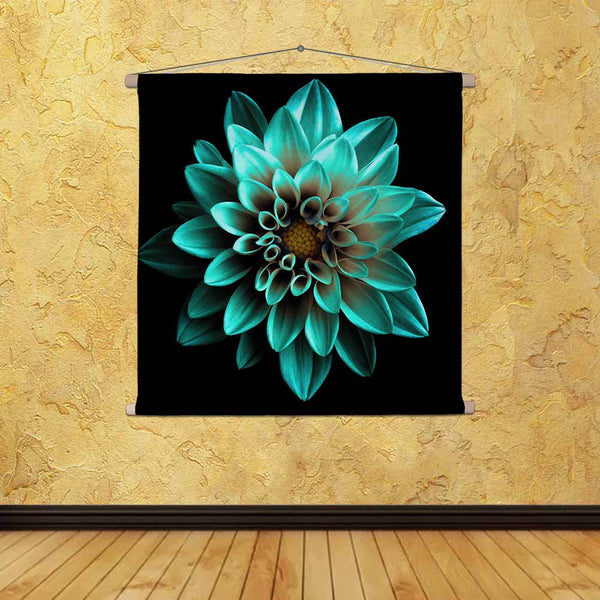 ArtzFolio Turquoise Flower Dahlia Fabric Painting Tapestry Scroll Art Hanging-Scroll Art-AZART45528708TAP_L-Image Code 5005313 Vishnu Image Folio Pvt Ltd, IC 5005313, ArtzFolio, Scroll Art, Floral, Photography, turquoise, flower, dahlia, canvas, fabric, painting, tapestry, scroll, art, hanging, surreal, dark, chrome, macro, isolated, black, beautiful, garden, background, plant, bea, tapestries, room tapestry, hanging tapestry, huge tapestry, amazonbasics, tapestry cloth, fabric wall hanging, unique tapestri