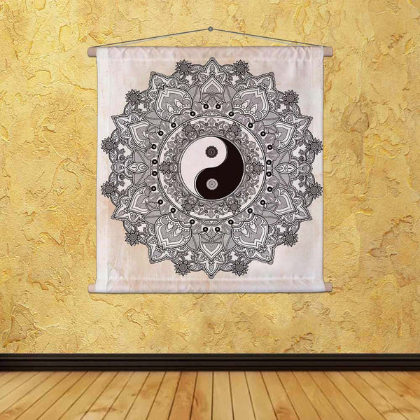 ArtzFolio Yin & Yang Tao Mandala Symbol Fabric Painting Tapestry Scroll Art Hanging-Scroll Art-AZART47704180TAP_L-Image Code 5005484 Vishnu Image Folio Pvt Ltd, IC 5005484, ArtzFolio, Scroll Art, Traditional, Digital Art, yin, yang, tao, mandala, symbol, canvas, fabric, painting, tapestry, scroll, art, hanging, round, ornament, pattern, vector, isolated, illustration, paisley, background, vintage, decorative, oriental, harmony, balance, tattoo, yoga, spirituality, textiles, tapestries, room tapestry, hangin