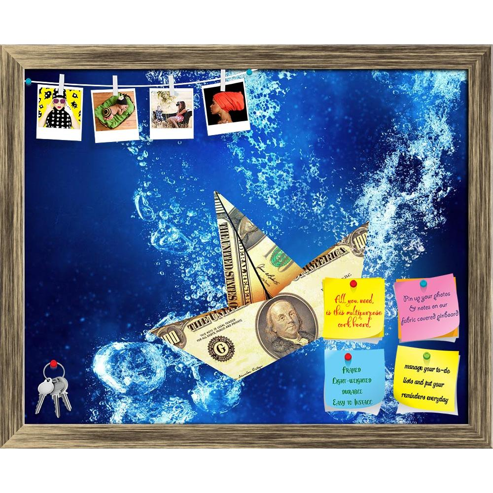 ArtzFolio Dollar Banknote Ship Sinking In Clear Blue Water Printed Bulletin Board Notice Pin Board Soft Board | Framed-Bulletin Boards Framed-AZSAO48245026BLB_FR_L-Image Code 5005520 Vishnu Image Folio Pvt Ltd, IC 5005520, ArtzFolio, Bulletin Boards Framed, Conceptual, Digital Art, dollar, banknote, ship, sinking, in, clear, blue, water, printed, bulletin, board, notice, pin, soft, framed, sign, under, symbol, sink, crisis, fall, money, financial, crystal, item, wallpaper, concept, sea, nature, ocean, backg