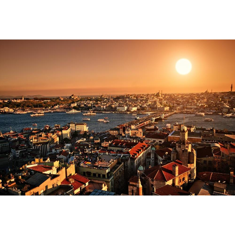 ArtzFolio Setting Sun Over Istanbul Panorama Peel & Stick Vinyl Wall Sticker-Laminated Wall Stickers-AZ5005715ART_UN_RF_R-0-Image Code 5005715 Vishnu Image Folio Pvt Ltd, IC 5005715, ArtzFolio, Laminated Wall Stickers, Places, Photography, setting, sun, over, istanbul, panorama, peel, stick, vinyl, wall, sticker, for, bedroom, large, size, decal, drawing, room, living, decorative, big, waterproof, home, office, reception, pitaara, box, designer, prints, kids, pvc, amazonbasics, washable, abstract, self, adh