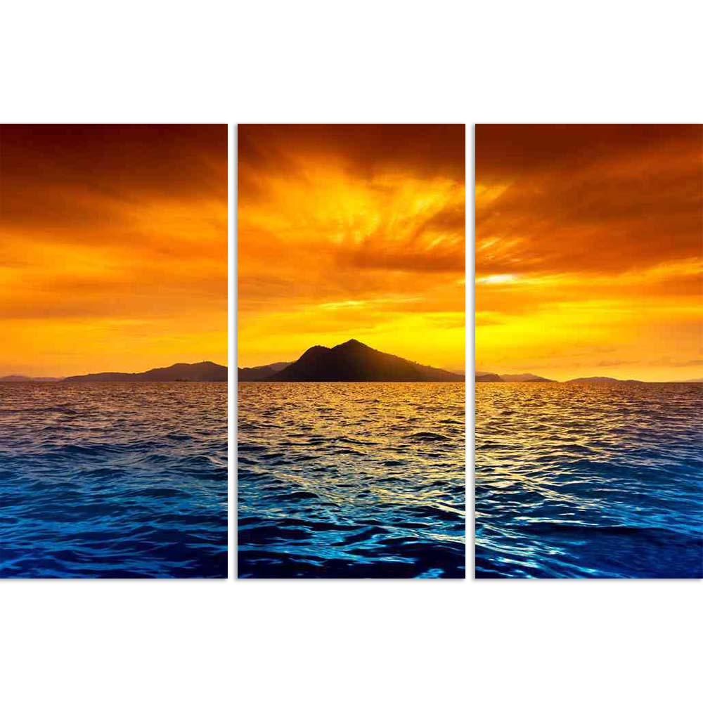 ArtzFolio Scenic View Of Island During Sunset Split Art Painting Panel on Sunboard-Split Art Panels-AZ5005739SPL_FR_RF_R-0-Image Code 5005739 Vishnu Image Folio Pvt Ltd, IC 5005739, ArtzFolio, Split Art Panels, Landscapes, Photography, scenic, view, of, island, during, sunset, split, art, painting, panel, on, sunboard, framed, canvas, print, wall, for, living, room, with, frame, poster, pitaara, box, large, size, drawing, big, office, reception, kids, designer, decorative, amazonbasics, reprint, small, bedr