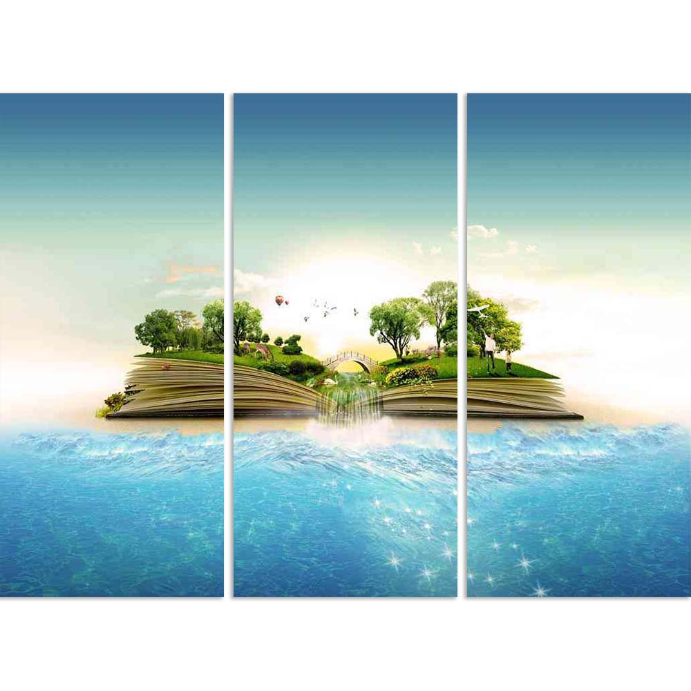 ArtzFolio Image of a Nature Book Split Art Painting Panel on Sunboard-Split Art Panels-AZ5005748SPL_FR_RF_R-0-Image Code 5005748 Vishnu Image Folio Pvt Ltd, IC 5005748, ArtzFolio, Split Art Panels, Conceptual, Landscapes, Digital Art, image, of, a, nature, book, split, art, painting, panel, on, sunboard, framed, canvas, print, wall, for, living, room, with, frame, poster, pitaara, box, large, size, drawing, big, office, reception, photography, kids, designer, decorative, amazonbasics, reprint, small, bedroo