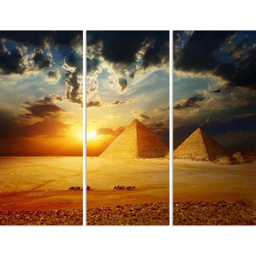 ArtzFolio Great Pyramids in Giza Valley, Cairo Egypt Split Art Painting Panel on Sunboard-Split Art Panels-AZ5005760SPL_FR_RF_R-0-Image Code 5005760 Vishnu Image Folio Pvt Ltd, IC 5005760, ArtzFolio, Split Art Panels, Places, Religious, Photography, great, pyramids, in, giza, valley, cairo, egypt, split, art, painting, panel, on, sunboard, framed, canvas, print, wall, for, living, room, with, frame, poster, pitaara, box, large, size, drawing, big, office, reception, of, kids, designer, decorative, amazonbas