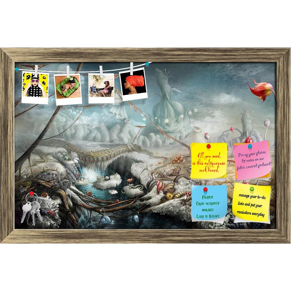 ArtzFolio Fantasy Panoramic Landscape With Lake & Flowers Printed Bulletin Board Notice Pin Board Soft Board | Framed-Bulletin Boards Framed-AZ5005776BLB_FR_RF_R-0-Image Code 5005776 Vishnu Image Folio Pvt Ltd, IC 5005776, ArtzFolio, Bulletin Boards Framed, Fantasy, Surrealism, Digital Art, panoramic, landscape, with, lake, flowers, printed, bulletin, board, notice, pin, soft, framed, art, artist, backgrounds, dreams, illustration, nobody, image, panorama, fiction, imagination, painting, abstract, horizonta