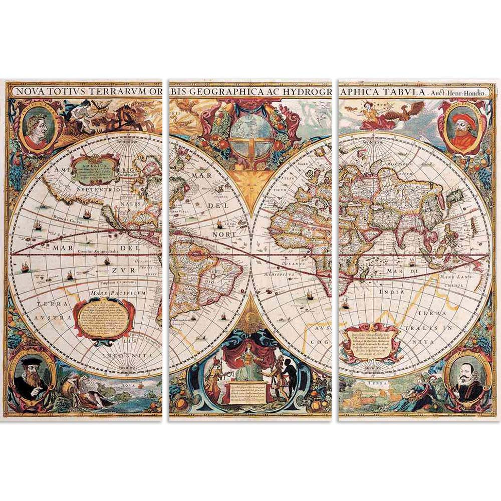 ArtzFolio Photo of an Antique Map, Henricus Hondius, 1630 Split Art Painting Panel on Sunboard-Split Art Panels-AZ5005779SPL_FR_RF_R-0-Image Code 5005779 Vishnu Image Folio Pvt Ltd, IC 5005779, ArtzFolio, Split Art Panels, Places, Vintage, Photography, photo, of, an, antique, map, henricus, hondius, 1630, split, art, painting, panel, on, sunboard, framed, canvas, print, wall, for, living, room, with, frame, poster, pitaara, box, large, size, drawing, big, office, reception, kids, designer, decorative, amazo
