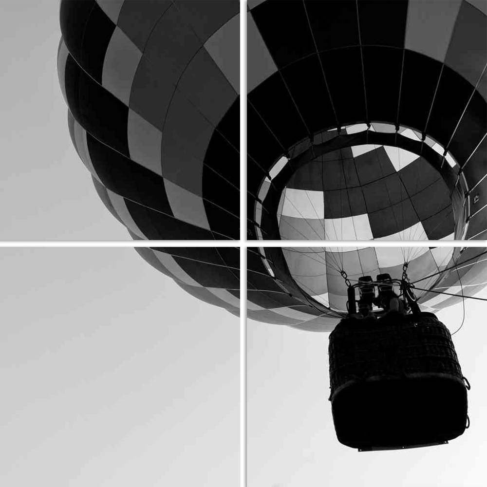 ArtzFolio Black White Photo of Hot Air Balloon Split Art Painting Panel on Sunboard-Split Art Panels-AZ5005785SPL_FR_RF_R-0-Image Code 5005785 Vishnu Image Folio Pvt Ltd, IC 5005785, ArtzFolio, Split Art Panels, Sports, Photography, black, white, photo, of, hot, air, balloon, split, art, painting, panel, on, sunboard, framed, canvas, print, wall, for, living, room, with, frame, poster, pitaara, box, large, size, drawing, big, office, reception, kids, designer, decorative, amazonbasics, reprint, small, bedro