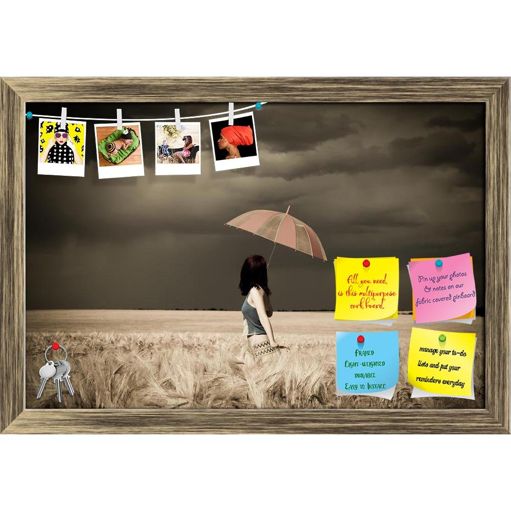 ArtzFolio Girl With Umbrella At Field In Retro Style Printed Bulletin Board Notice Pin Board Soft Board | Framed-Bulletin Boards Framed-AZ5005796BLB_FR_RF_R-0-Image Code 5005796 Vishnu Image Folio Pvt Ltd, IC 5005796, ArtzFolio, Bulletin Boards Framed, Figurative, Landscapes, Photography, girl, with, umbrella, at, field, in, retro, style, printed, bulletin, board, notice, pin, soft, framed, adult, beautiful, beauty, cereals, classic, clothes, clouds, cloudy, crop, female, free, harvest, keep, look, nature,