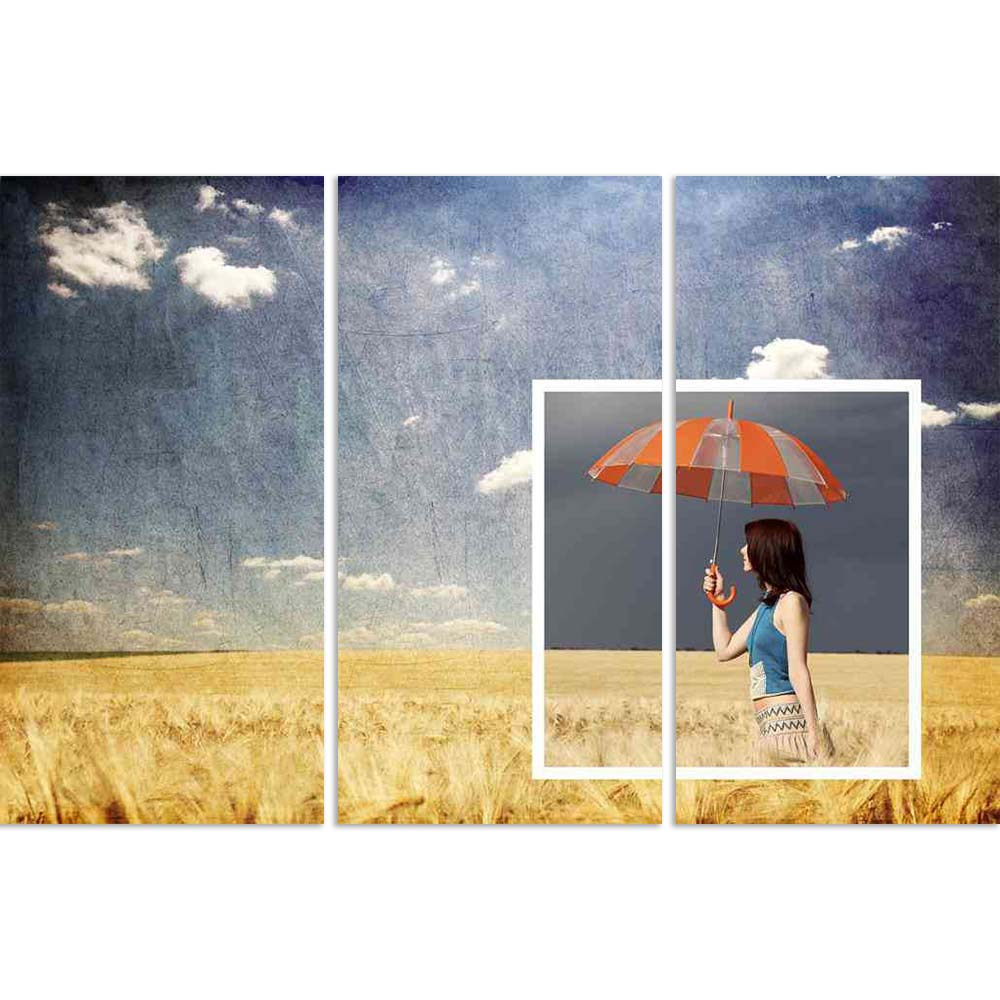 ArtzFolio Girl with Umbrella in a Wheat Field Split Art Painting Panel on Sunboard-Split Art Panels-AZ5005797SPL_FR_RF_R-0-Image Code 5005797 Vishnu Image Folio Pvt Ltd, IC 5005797, ArtzFolio, Split Art Panels, Figurative, Landscapes, Photography, girl, with, umbrella, in, a, wheat, field, split, art, painting, panel, on, sunboard, framed, canvas, print, wall, for, living, room, frame, poster, pitaara, box, large, size, drawing, big, office, reception, of, kids, designer, decorative, amazonbasics, reprint,