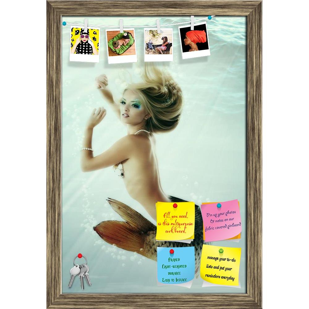 ArtzFolio Mermaid Magic Underwater Mythology Printed Bulletin Board Notice Pin Board Soft Board | Framed-Bulletin Boards Framed-AZ5005800BLB_FR_RF_R-0-Image Code 5005800 Vishnu Image Folio Pvt Ltd, IC 5005800, ArtzFolio, Bulletin Boards Framed, Fantasy, Figurative, Photography, mermaid, magic, underwater, mythology, printed, bulletin, board, notice, pin, soft, framed, girl, woman, water, nymph, female, beauty, hair, sea, beautiful, dream, silence, charm, teen, teenager, teenage, tail, fish, tale, legend, gr