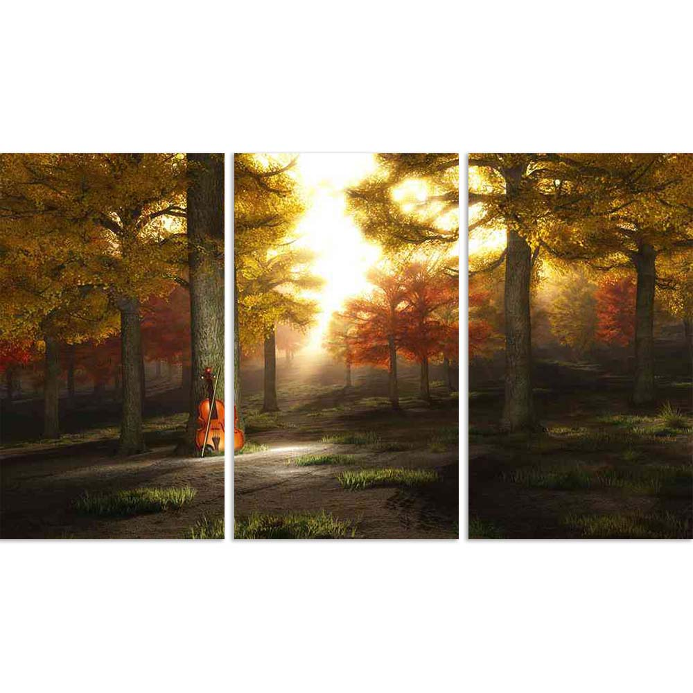 ArtzFolio Violin In Autumnal Park Split Art Painting Panel on Sunboard-Split Art Panels-AZ5005802SPL_FR_RF_R-0-Image Code 5005802 Vishnu Image Folio Pvt Ltd, IC 5005802, ArtzFolio, Split Art Panels, Landscapes, Photography, violin, in, autumnal, park, split, art, painting, panel, on, sunboard, framed, canvas, print, wall, for, living, room, with, frame, poster, pitaara, box, large, size, drawing, big, office, reception, of, kids, designer, decorative, amazonbasics, reprint, small, bedroom, scenery, instrume