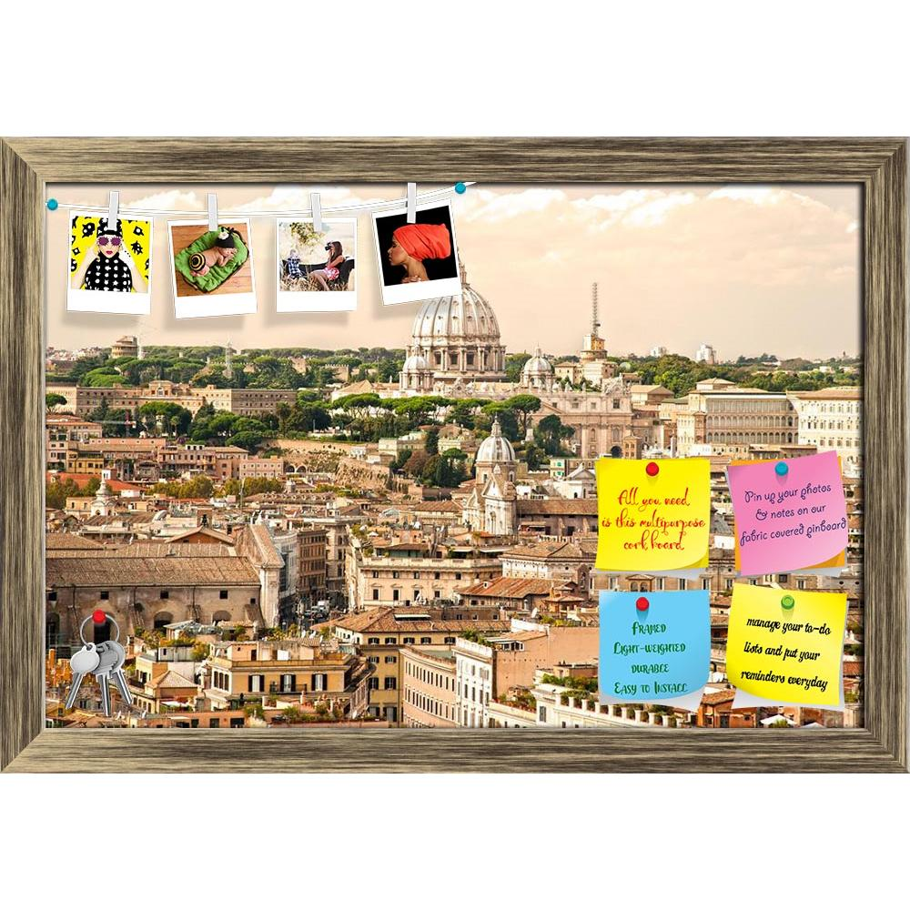 ArtzFolio View Of San Peter Basilica, Rome, Italy Printed Bulletin Board Notice Pin Board Soft Board | Framed-Bulletin Boards Framed-AZ5005805BLB_FR_RF_R-0-Image Code 5005805 Vishnu Image Folio Pvt Ltd, IC 5005805, ArtzFolio, Bulletin Boards Framed, Places, Vintage, Photography, view, of, san, peter, basilica, rome, italy, printed, bulletin, board, notice, pin, soft, framed, pope, capital, city, landmark, famous, architecture, art, building, cathedral, christian, christianity, church, dome, masterpiece, mic