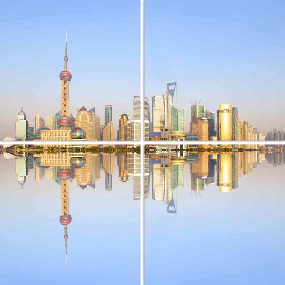 ArtzFolio 2012 Shanghai City Skyline At Dusk Split Art Painting Panel on Sunboard-Split Art Panels-AZ5005819SPL_FR_RF_R-0-Image Code 5005819 Vishnu Image Folio Pvt Ltd, IC 5005819, ArtzFolio, Split Art Panels, Places, Photography, 2012, shanghai, city, skyline, at, dusk, split, art, painting, panel, on, sunboard, framed, canvas, print, wall, for, living, room, with, frame, poster, pitaara, box, large, size, drawing, big, office, reception, of, kids, designer, decorative, amazonbasics, reprint, small, bedroo