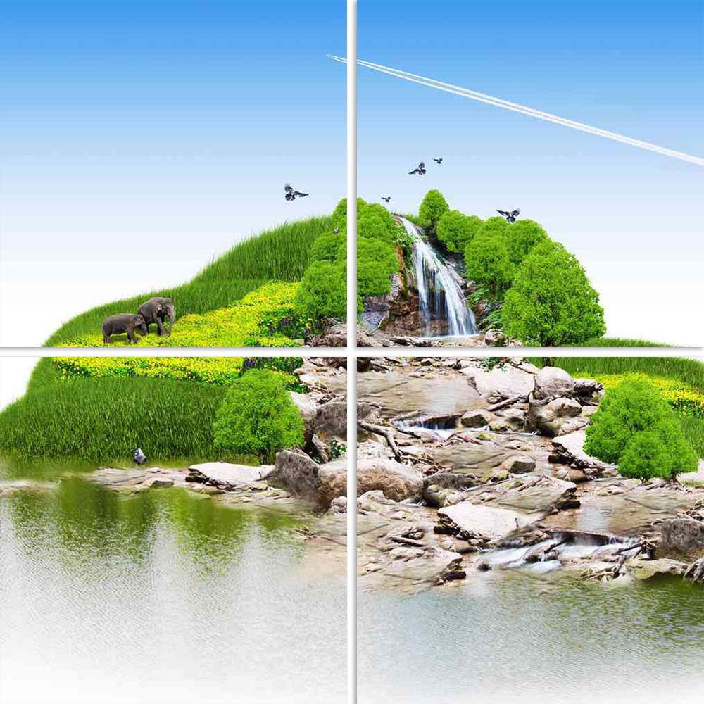 ArtzFolio Island With Vegetation A Waterfall Split Art Painting Panel on Sunboard-Split Art Panels-AZ5005824SPL_FR_RF_R-0-Image Code 5005824 Vishnu Image Folio Pvt Ltd, IC 5005824, ArtzFolio, Split Art Panels, Conceptual, Landscapes, Digital Art, island, with, vegetation, a, waterfall, split, art, painting, panel, on, sunboard, framed, canvas, print, wall, for, living, room, frame, poster, pitaara, box, large, size, drawing, big, office, reception, photography, of, kids, designer, decorative, amazonbasics,