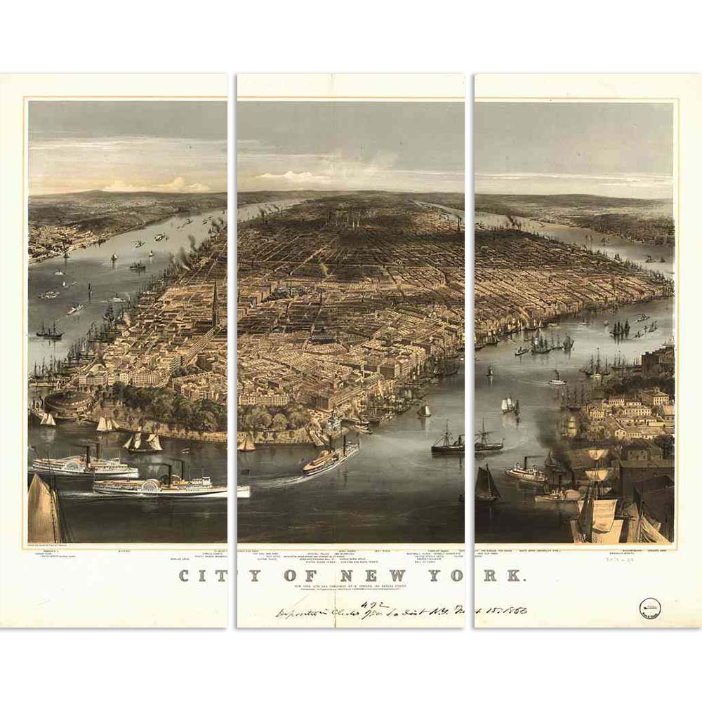 ArtzFolio Photo of New York in 1856 Split Art Painting Panel on Sunboard-Split Art Panels-AZ5005850SPL_FR_RF_R-0-Image Code 5005850 Vishnu Image Folio Pvt Ltd, IC 5005850, ArtzFolio, Split Art Panels, Places, Vintage, Photography, photo, of, new, york, in, 1856, split, art, painting, panel, on, sunboard, framed, canvas, print, wall, for, living, room, with, frame, poster, pitaara, box, large, size, drawing, big, office, reception, kids, designer, decorative, amazonbasics, reprint, small, bedroom, scenery, a