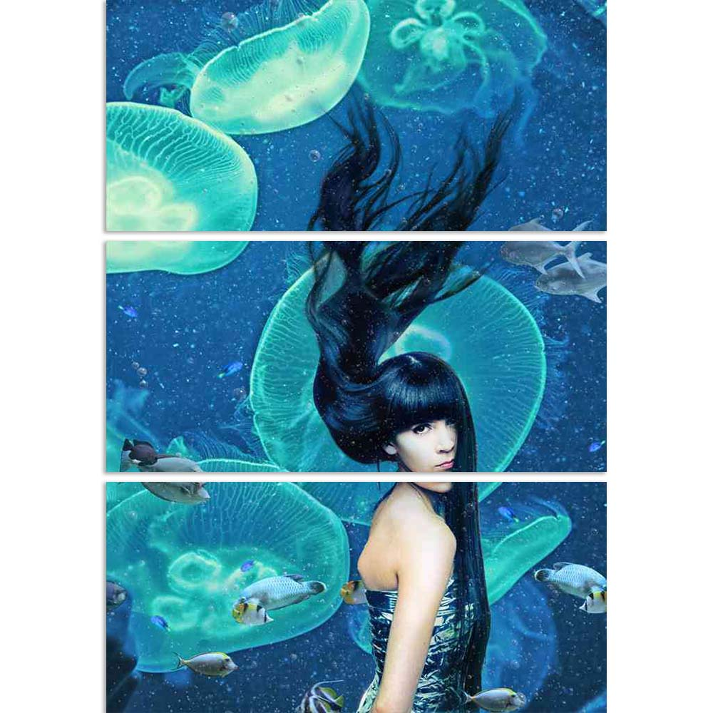 ArtzFolio Mermaid Magic Underwater Photo Split Art Painting Panel on Sunboard-Split Art Panels-AZ5005857SPL_FR_RF_R-0-Image Code 5005857 Vishnu Image Folio Pvt Ltd, IC 5005857, ArtzFolio, Split Art Panels, Fashion, Figurative, Photography, mermaid, magic, underwater, photo, split, art, painting, panel, on, sunboard, framed, canvas, print, wall, for, living, room, with, frame, poster, pitaara, box, large, size, drawing, big, office, reception, of, kids, designer, decorative, amazonbasics, reprint, small, bed