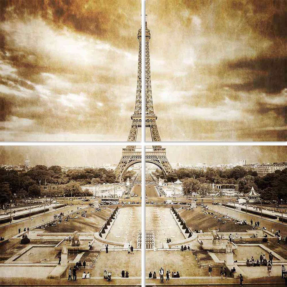 ArtzFolio Eiffel Tower From Trocadero Monochrome Vintage Split Art Painting Panel on Sunboard-Split Art Panels-AZ5005866SPL_FR_RF_R-0-Image Code 5005866 Vishnu Image Folio Pvt Ltd, IC 5005866, ArtzFolio, Split Art Panels, Places, Vintage, Photography, eiffel, tower, from, trocadero, monochrome, split, art, painting, panel, on, sunboard, framed, canvas, print, wall, for, living, room, with, frame, poster, pitaara, box, large, size, drawing, big, office, reception, of, kids, designer, decorative, amazonbasics