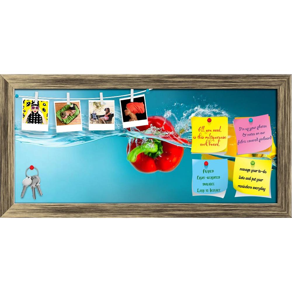ArtzFolio Colorful Peppers Splashing Into Blue Water Printed Bulletin Board Notice Pin Board Soft Board | Framed-Bulletin Boards Framed-AZ5005893BLB_FR_RF_R-0-Image Code 5005893 Vishnu Image Folio Pvt Ltd, IC 5005893, ArtzFolio, Bulletin Boards Framed, Food & Beverage, Photography, colorful, peppers, splashing, into, blue, water, printed, bulletin, board, notice, pin, soft, framed, background, bubble, chili, clean, closeup, color, cooking, dieting, drop, fall, flowing, food, fresh, freshness, fruit, green,