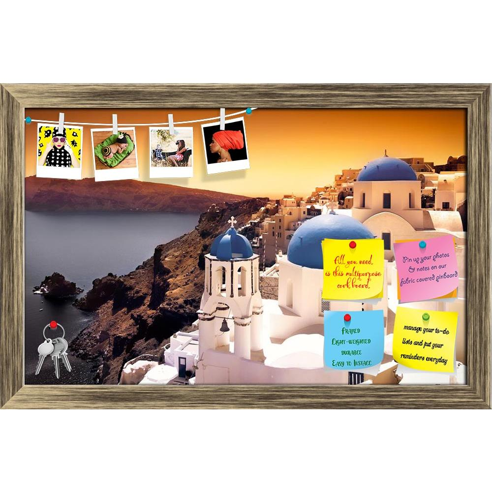 ArtzFolio Churches On Santorini Cliffs With Orange Sky Printed Bulletin Board Notice Pin Board Soft Board | Framed-Bulletin Boards Framed-AZ5005898BLB_FR_RF_R-0-Image Code 5005898 Vishnu Image Folio Pvt Ltd, IC 5005898, ArtzFolio, Bulletin Boards Framed, Landscapes, Places, Photography, churches, on, santorini, cliffs, with, orange, sky, printed, bulletin, board, notice, pin, soft, framed, architecture, beauty, building, church, europe, european, gorgeous, greece, holiday, honeymoon, hot, island, landscape,