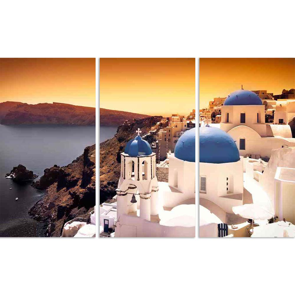 ArtzFolio Churches On Santorini Cliffs With Orange Sky Split Art Painting Panel on Sunboard-Split Art Panels-AZ5005898SPL_FR_RF_R-0-Image Code 5005898 Vishnu Image Folio Pvt Ltd, IC 5005898, ArtzFolio, Split Art Panels, Landscapes, Places, Photography, churches, on, santorini, cliffs, with, orange, sky, split, art, painting, panel, sunboard, framed, canvas, print, wall, for, living, room, frame, poster, pitaara, box, large, size, drawing, big, office, reception, of, kids, designer, decorative, amazonbasics,