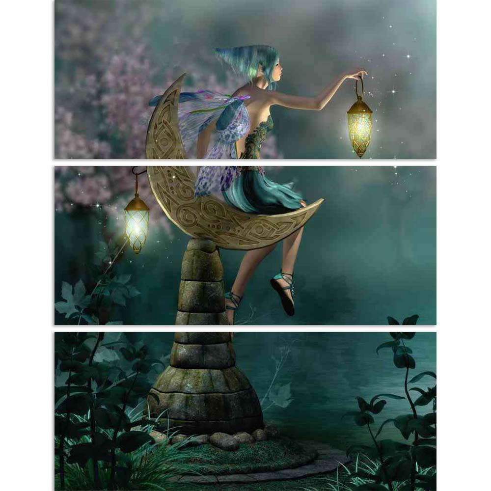 ArtzFolio Little Pixie with a Lantern Sitting on Moon Split Art Painting Panel on Sunboard-Split Art Panels-AZ5005903SPL_FR_RF_R-0-Image Code 5005903 Vishnu Image Folio Pvt Ltd, IC 5005903, ArtzFolio, Split Art Panels, Fantasy, Figurative, Digital Art, little, pixie, with, a, lantern, sitting, on, moon, split, art, painting, panel, sunboard, framed, canvas, print, wall, for, living, room, frame, poster, pitaara, box, large, size, drawing, big, office, reception, photography, of, kids, designer, decorative,