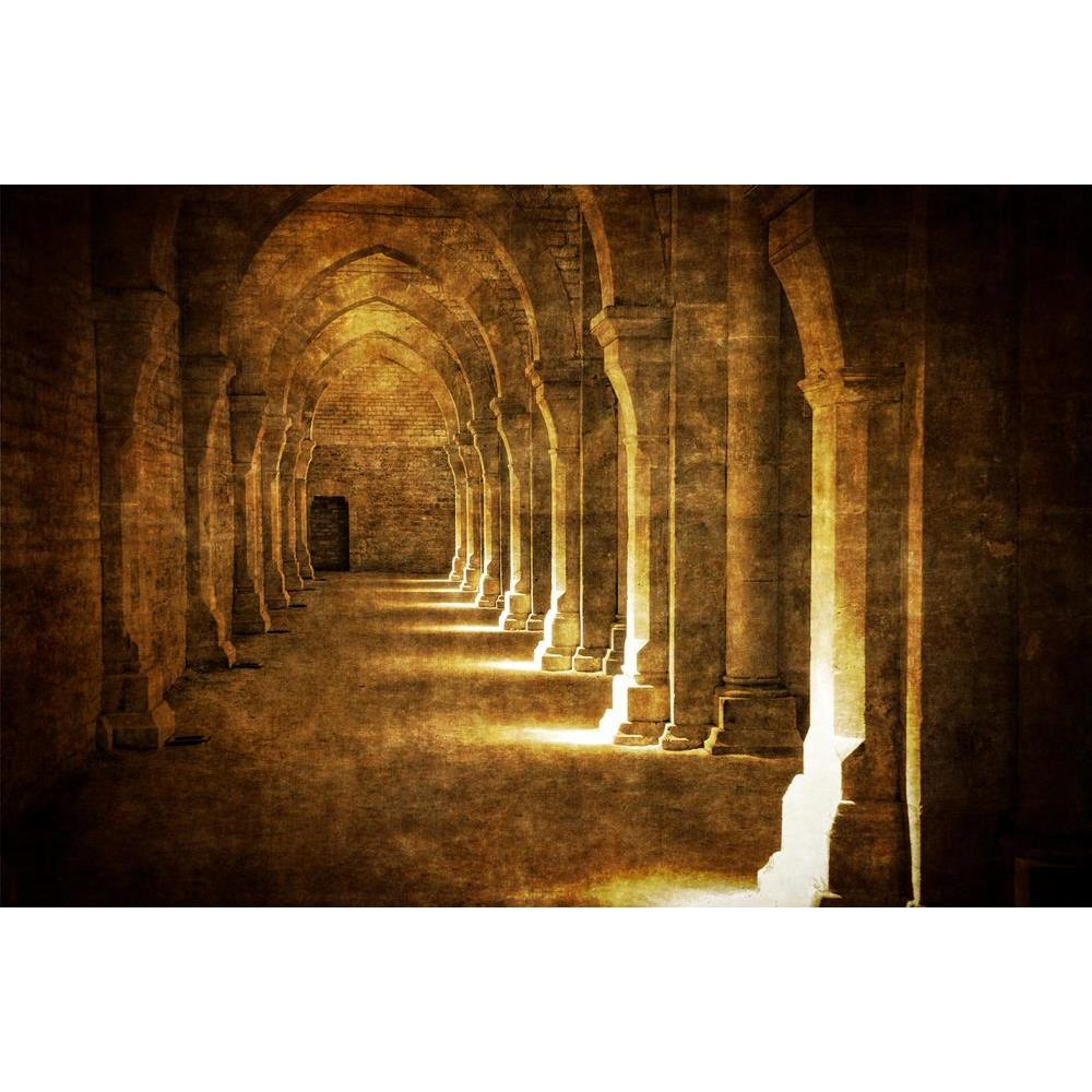 ArtzFolio Abbaye De Fontenay Archway Hall Vintage Peel & Stick Vinyl Wall Sticker-Laminated Wall Stickers-AZ5005907ART_UN_RF_R-0-Image Code 5005907 Vishnu Image Folio Pvt Ltd, IC 5005907, ArtzFolio, Laminated Wall Stickers, Landscapes, Places, Photography, abbaye, de, fontenay, archway, hall, vintage, peel, stick, vinyl, wall, sticker, for, bedroom, large, size, decal, drawing, room, living, decorative, big, waterproof, home, office, reception, pitaara, box, designer, prints, kids, pvc, amazonbasics, washab