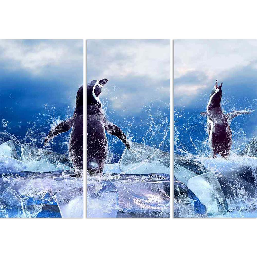 ArtzFolio Penguin On The Ice In Water Drops D2 Split Art Painting Panel on Sunboard-Split Art Panels-AZ5005938SPL_FR_RF_R-0-Image Code 5005938 Vishnu Image Folio Pvt Ltd, IC 5005938, ArtzFolio, Split Art Panels, Animals, Photography, penguin, on, the, ice, in, water, drops, d2, split, art, painting, panel, sunboard, framed, canvas, print, wall, for, living, room, with, frame, poster, pitaara, box, large, size, drawing, big, office, reception, of, kids, designer, decorative, amazonbasics, reprint, small, bed